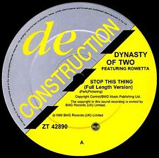 """12"""" - Dynasty Of Two - Stop This Thing (HOUSE) NUEVO - NEW, STOCK STORE) LISTEN"""