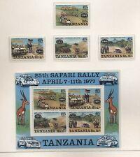 Tanzania 1977 25th rally serie cpl e BF nuova integra MNH T616