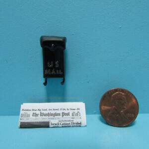 Dollhouse Miniature Metal Hanging Mailbox with Printed Newspaper MUL4138