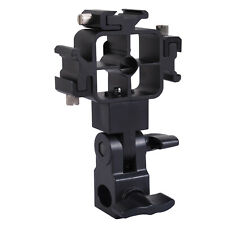 Tri-Hot Shoe Mount Flash Bracket/Umbrella Holder fr Canon Nissin Sigma Speedlite