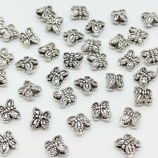 10 Sterling Silver Butterfly Beads 925 Silver Small Spacer Beads for Bracelet
