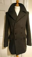 AllSaints Regular Size Wool Peacoat for Men