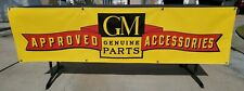 """Vintage Gm Approved Accessories logo vinyl table banner Brand New! 70"""" x 18.5"""""""