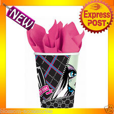 PD29 Monster High 265ml Birthday Party Pk 8 Paper Cups Halloween Party Supplies