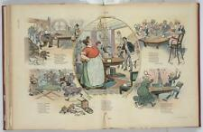 Crazy,table tennis,domestic life,women,servants,ping pong,E Sabin,Ehrhart,1902