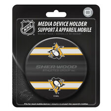 Pittsburgh Penguins Hockey Puck Media Device Holder Home/Office Phone Tablet