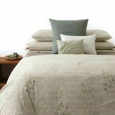 Calvin Klein 2 KING Pillowcases Briar Brush Weave 100% Cotton CREAM E03074