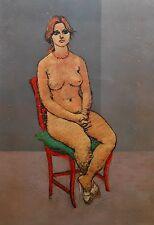 """Francesco Messina, """"Donna nuda con collana"""", serigrafia 70x50. Certificazione"""