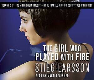 The Girl Who Played with Fire by Stieg Larsson (6 CD-Audio Book 2009)