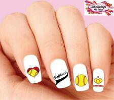 Waterslide Nail Decals Set of 20 - Softball Assorted