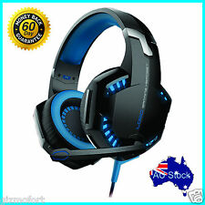 Pro Gaming Headset LED Luminous Headphones + Mic For PC Deep Bass KOTION G2000