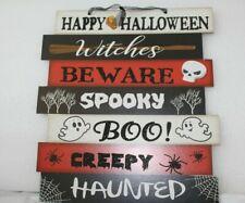 """Halloween 11"""" x 10"""" Happy Halloween Indoor/Outdoor Décor Sign Free Shipping"""