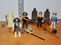 Vintage PLAYMOBIL Knights & Ghost Mini Figure Lot Geobra 1974 Medieval