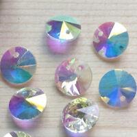 10/50/100Pcs UFO Crystal Glass Beads Ornaments Craft DIY Jewelry Making Supply