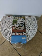 Whitewash Willow Picnic Basket Service for 4. Never used - original wrapping