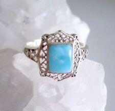 Ring mit Larimar , 925er Silber, Gr. 18,1 - Blau