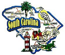 South Carolina Jumbo State Map Fridge Magnet