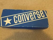 1975 Converse Fastbreak Boy's Oxfords, Light Blue Canvas Vintage Box Only Usa