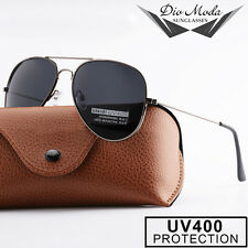 Men's Black Lens Black Frame Aviator Sunglasses for Driving With UV400 Lens