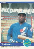 1984 Fleer #631 Tim Raines Montreal Expos