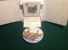 "W.S.George ""Winter Colors-Ring Necked Pheasant"" Bird Plate,Round,Fn Chine,Coa,Nb"