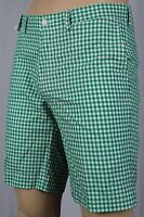 Polo Ralph Lauren Green White Checkered Suffield Fit Shorts NWT