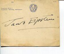 Jacob Epstein Famous British Sculptor Artist Painter Rare Signed Autograph