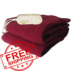 """Biddeford Natural Dual Control Comfort Knit Heated Queen Electric Blanket """"NEW"""""""