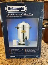 New DeLonghi 60 Cup Stainless Steel Commercial Coffee Percolator Urn Model DCU60
