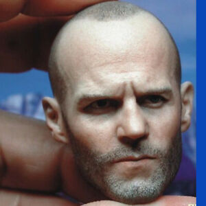 """Jason Statham Head Sculpt 1/6 Scale Model for 12"""" Male Muscular Body Hot Toys"""