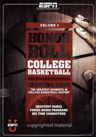 Honor Roll - College Basketball Vol. 1 (DVD, 2007) New