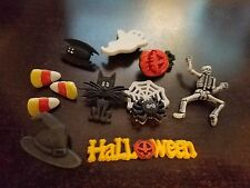 "Dress it Up ""Halloween"" Buttons/Embellishments Skeleton Ghost Cat Bat Spider Web"