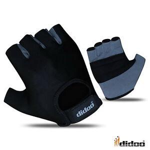 Didoo Mens Fingerless Cycling Gloves Half Finger Foam Padded Sports Bike Sports