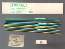 """INOXAL"" : BRAND 10 Crochet Hooks Art.932 No: 3 UNUSED in Boxed Made in Germany"