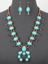 Squash Blossom Turquoise Necklace