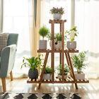 3 Tier Narrow Wood Shelf Plant Stand Flower Rack Pots Holder Home Garden Corner