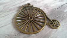 ANTIQUE BRONZE PENNY FARTHING EMBELLISHMENT- SCRAPBOOKING,CRAFTING, BICYCLE.