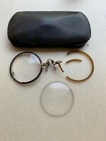 Vintage Antique Shur-On Round Spectacles Eyeglasses Eye Glasses GF for Parts