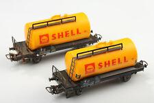 Märklin H0 Juego 2 Clásica Vagón Cisterna Shell Suciedad/Arañazo/Corrosión O