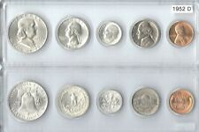 1952-D Us Mint set - 5 Choice Brilliant Uncirculated coins in a Whitman holder