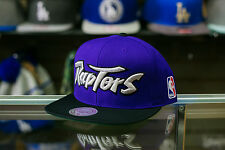 Mitchell & Ness Toronto Raptors Purple Black Snapback Hat