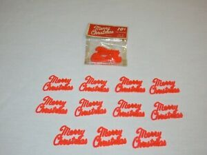Vintage General Plastic Merry Christmas Cupcake Cake Topper Decoration Lot of 16
