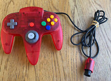 Watermelon & Clear Nintendo 64 Controller N64 OEM TESTED WORKING