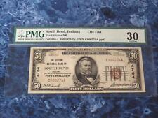 1929 $50 FR#1803-1 Type 1 The Citizens NB South Bend, IN PMG VF30 - LOW SERIAL!