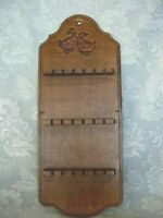 Vintage Pressed Wood/Wooden Goose/Geese Spoon Rack - Holds 18 Collectible Spoons