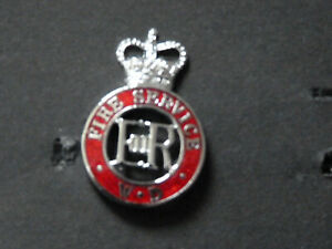 War Department Fire Service QC Cap Badge.Enamel.