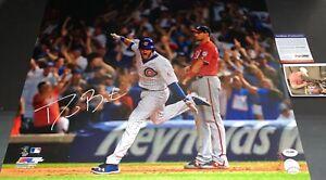 David Bote Chicago Cubs Signed 16x20 Photo PSA WITNESS COA WALKOFF GRAND SLAM 1