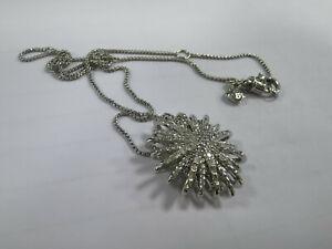 David Yurman Petite Starburst Station Pendant Necklace with Diamonds New