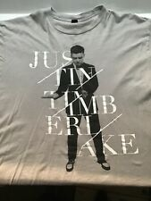 Vintage Tultex Justin Timberlake 20/20 World Tour 2013/2014 Xl Grey Shirt (940)