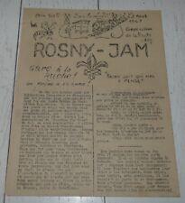 RARE FANZINE ORIGINAL 23 AOUT 1947 ROSNY-JAM JAMBOREE MOISSON SCOUT SCOUTISME